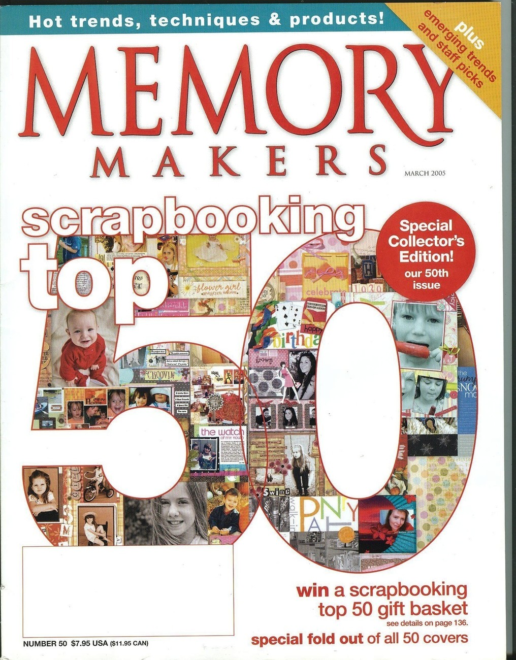 Memory Makers March 2005-Fold-Out of 50 Covers;Special Collector's Issue-50th!