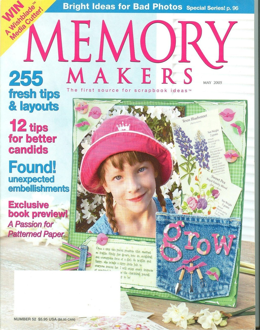 Memory Makers May 2005-255 Fresh Tips & Layouts;Embellishments;Tips for Candids