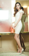 PS247-2228 Sexy cute pencil dress, w shoulder bow decorated,free size, fit to S/ - $18.80