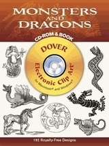 Monsters and Dragons CD-ROM/BOOK-120 ROYALTY-FREE DESIGNS Johanna & Erns... - $11.99