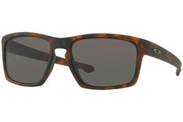 Oakley Sole Slive Opaco Marrone Tartaruga W/ Caldo Grigio Lenti OO9262-03 - $146.71
