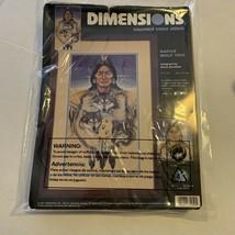 2001 Dimensions Cross Stitch Kit Native Wolf Trio by Marie Buchfink Thread Cloth - $13.96