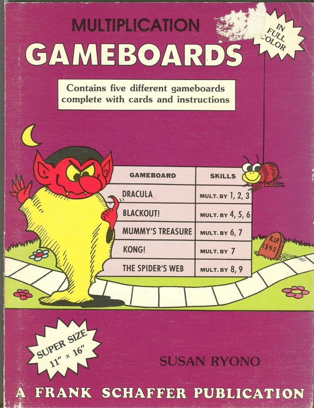 Multiplication Gameboards:Contains Five Different Gameboards Complete With Cards