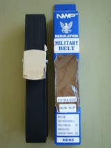 Usn Us Navy All Ranks Rates E1-E6 Enlisted Mans Black Belt With Silver Buckle Xl - $24.70