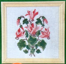 Oehlenschlager Cyclamen Pink Floral Counted Cross Stitch Kit 25704 Denmark - $24.14