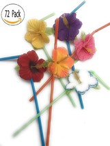 Hibiscus Flower Bendable Straws ( Pack of 72 ) - $15.25