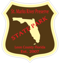 St. Marks River Preserve Florida State Park Sticker R6792 You Choose Size - $1.45+