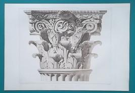 ROME Temple of Jupiter Stator Capital - SUPERB 1905 Espouy Heliogravure ... - $29.70