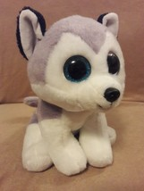 "TY CLASSIC gray white BUFF the SIBERIAN HUSKY PUPPY DOG Plush 10"" MEDIUM... - $11.29"