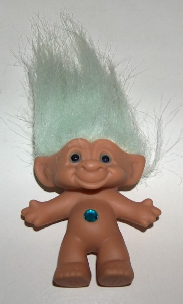 Primary image for Troll with Jewel Bellybutton Green Hair by Ace Novelty