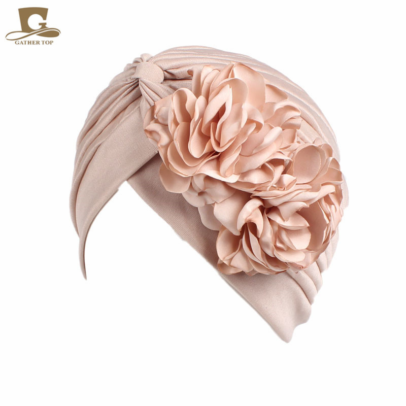 Primary image for New vintage double flower beanie turban style hat women headbands African Patter