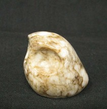 Russian Stone Carving Small Modernist Owl Abstract Bird Vintage 1970s - $17.82