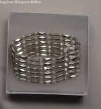 Silver Magnetic Hematite White Pearl Lariat - $18.00