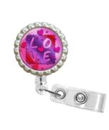 Purple LOVE ID Badge Reel - FE126.3 - $9.99