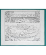 MILITARY Roman Camp & Siege of Naumantia by Scipio - 1828 Antique Print - $16.20