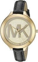 Michael Kors MK2392 Silm Runway Gold Dial Wrist Watch - $164.41