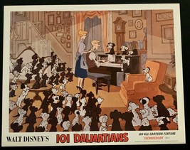 101 DALMATIANS Original Movie Poster Lobby Card Disney Animated Classic #8 - $32.37