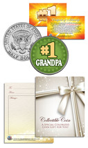 #1 GRANDPA Grandparents' Day JFK Kennedy Half Dollar Colorized U.S. Coin - $8.86