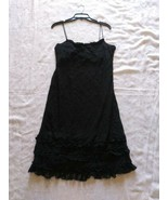 Women's Ralph Lauren Black Lace Dress Spaghetti Straps Size Large Ruffle... - $32.71