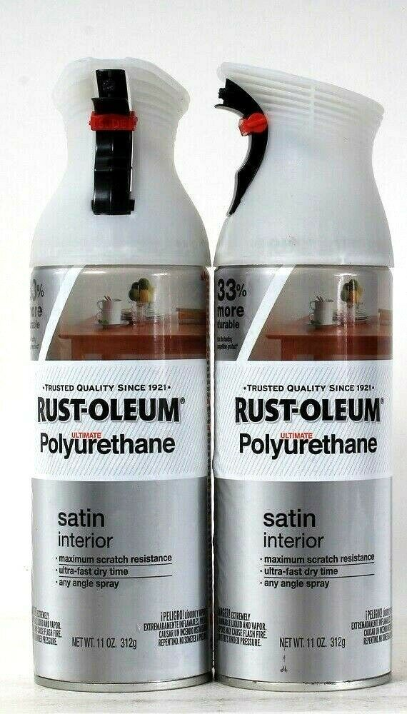 Primary image for 2 Count Rust-Oleum 11 Oz Ultimate Polyurethane 274746 Satin Interior Spray