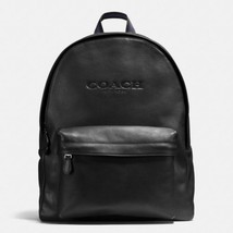 NWT Coach Charles Backpack In Soft Sport Calf Leather Black F54786 MSRP ... - $219.99