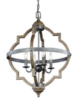 Sea Gull 5124904-846 Socorro 4 Light 21 inch Stardust Hall Foyer Ceiling... - $356.25