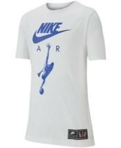 Nike Boys Large White Air Dunk Short Sleeve T Shirt AR5279 New  - $17.81