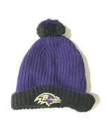 Baltimore ravens hat beanie purple black unisex 0SFA  - $24.75