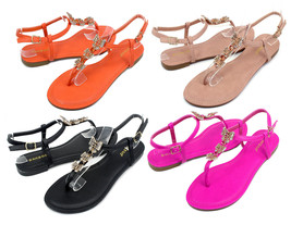 Grayson-17 New Fashion Butterfly Stone Flats Sandals Gladiator Party Women Shoes - $12.59