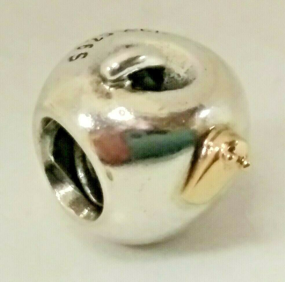 Primary image for RETIRED Authentic Pandora Apple Worm Charm Bead