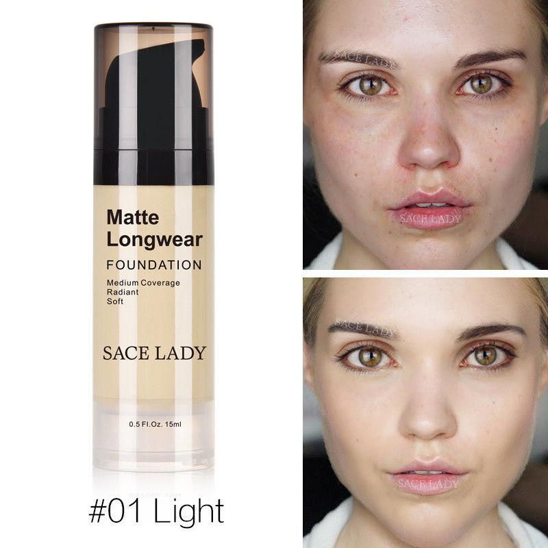 Foundation Base Makeup Professional Face Matte Finish Liquid Make Up Concealer image 4