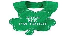 Carter's Kiss Me I'm Irish Shamrock Bib One Size Fits Most, Green - $10.88