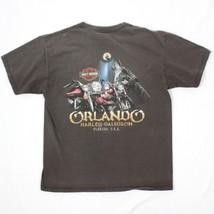 Harley Davidson Orlando Florida T-Shirt Uomo Taglia L Grande Due Lati Ca... - $22.71