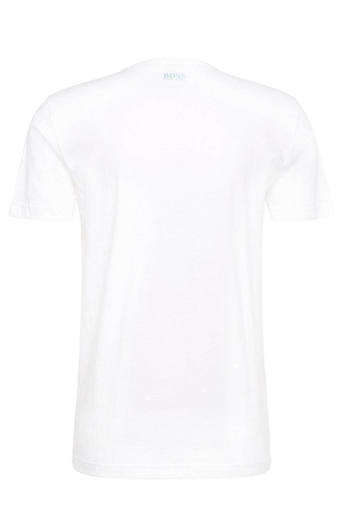 Hugo Boss Men's Premium Designer Graphic Cotton Shirt T-Shirt White 50329052