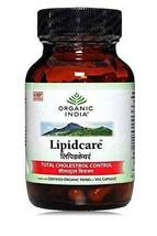 3 Pack Organic India Lipidcare 60 Capsules Bottle (Total 180 Capsules) - $30.75