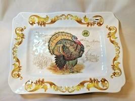 Michel Design Works Fall Harvest Melamine Large Serving Platter Tray Ser... - £32.71 GBP