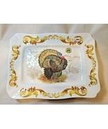 Michel Design Works Fall Harvest Melamine Large Serving Platter Tray Ser... - $44.99