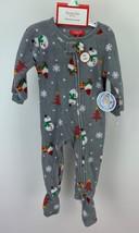Family PJs Toddler's Christmas Holiday Happy Gnomes Print Footed Pajamas... - $13.99