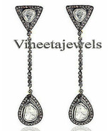 2.60Ct. Rose Cut Diamond Sterling Silver Dangling Victorian Look Earring... - $536.22