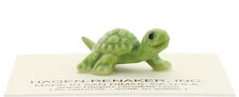 Hagen-Renaker Miniature Ceramic Turtle Figurine Tiny Green Baby Turtle