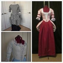 Revolutionary War Dress Poldark Colonial Dress Georgian Dress  - $145.00