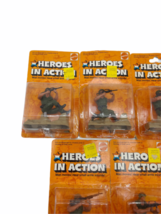 Lot (5) NOS Vintage 1974 Mattel Heroes in Action Card Figure Sealed Package image 2