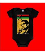 MALCOLM X Black Onesie Black History, ISLAM, Red Black Green - $17.99+