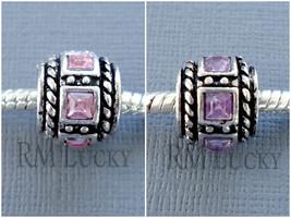 Two Crystal Spacer European Charm Large hole Bead. Fits European Bracelet C88 - $2.19