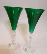 Cristal d'Arques crystal Noel all purpose glasses 8.34oz EUC - $19.99
