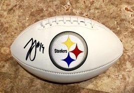 Juju Smith Schuster Signed Autographed Pittsburgh Steelers Logo Football w/COA - $159.99
