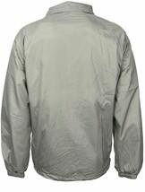 Men's Lightweight Water Resistant Grey Windbreaker Coach Jacket w/ Defect - L image 2
