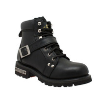 Women's Zipper Black Biker Boot Motorcycle Gear & Apparel by Daniel Smar... - $115.95