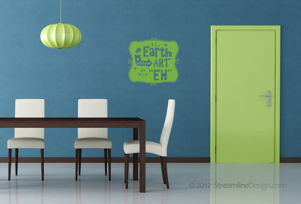 Earth without Art Vinyl Wall Art