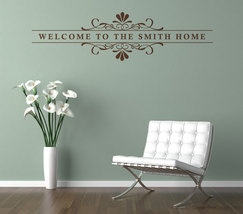 Personalized Floral & Scroll Wall Graphic. Custom made with your wording. - $17.95
